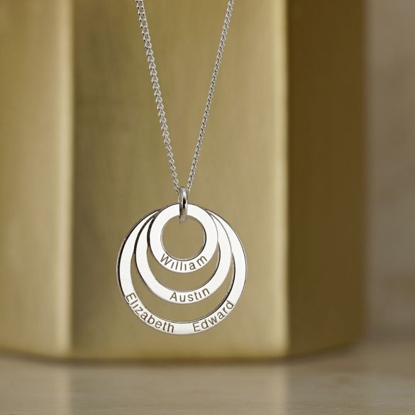 Triple Disc Family Necklace