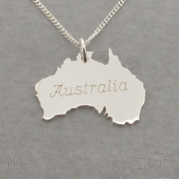 Sterling Silver Australia Pendant