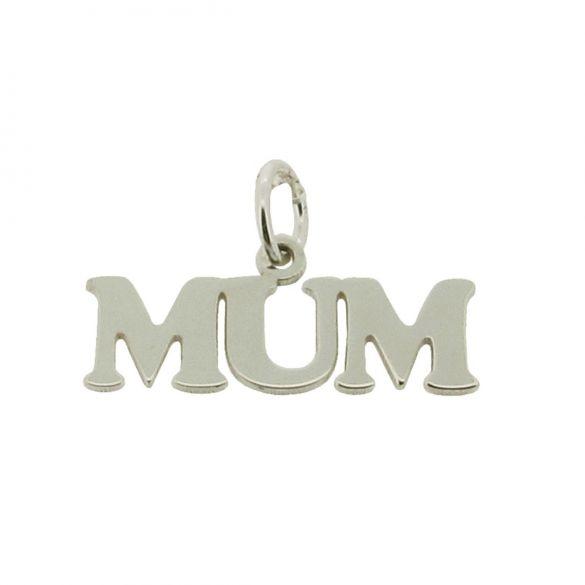Sterling Silver Mum Pendant