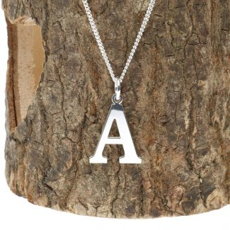 Sterling Silver Bookman Initial