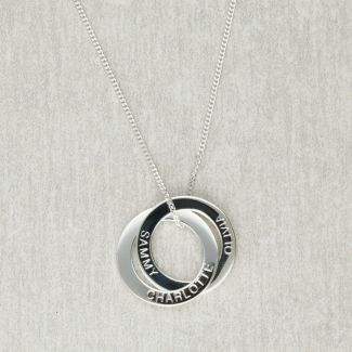 Sterling Silver Engraved Double Russian Ring Pendant
