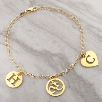 9ct Yellow Gold Ladies Curb Bracelet With Optional Charms