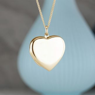 Yellow Gold Plated Heart Locket With Optional Engraving