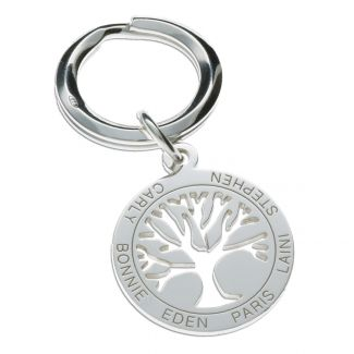 Sterling Silver Tree Of Life Keyring