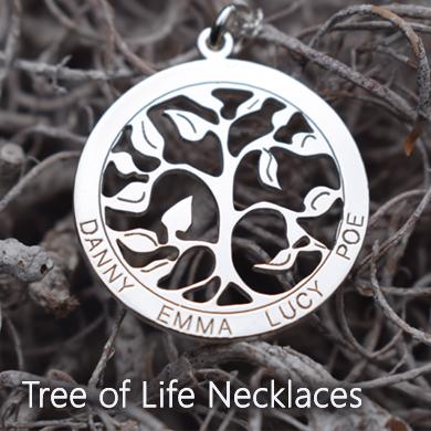 Personalised Tree of Life Jewellery