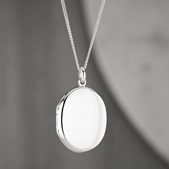 Sterling Silver Oval Locket With Optional Engraving