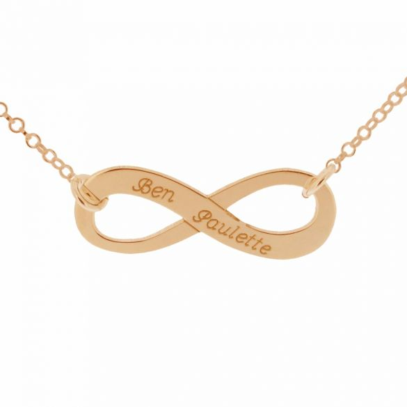 9ct Rose Gold Plated Infinity Necklace