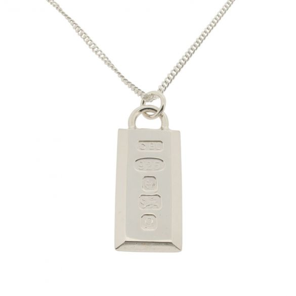 Sterling Silver Large Heavy Custom Hallmarked Ingot With Optional Engraving