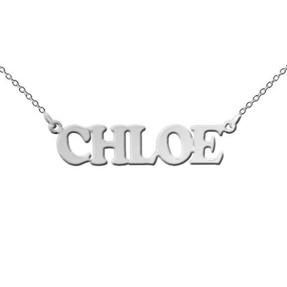 Sterling Silver Cooper Style Personalised Name Necklace