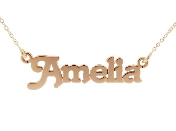 9ct Rose Gold Plated Terra Style Personalised Name Necklace