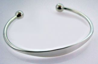 Sterling Silver Baby and Small Child Torque Bangle With Optional Engraving