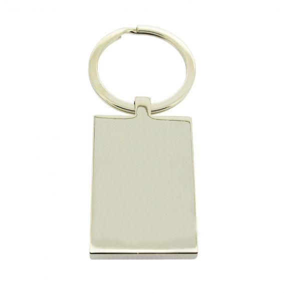 Mirror Polished Rectangle Keyring With Optional Engraving