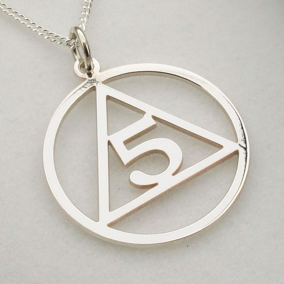 Sterling Silver Sobriety Pendant With Number and Optional Chain