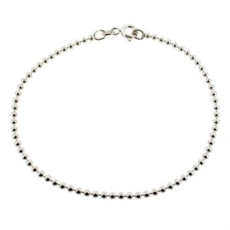 Sterling Silver 2mm Bead Anklet