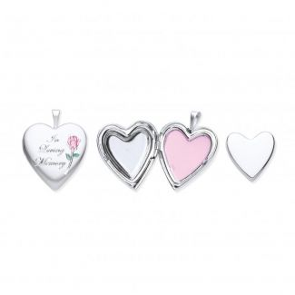 Sterling Silver Cremation Heart Locket