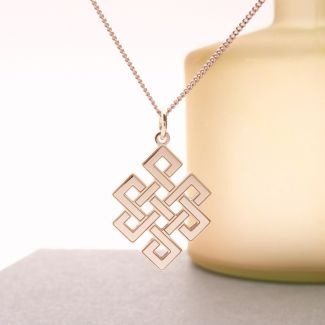 9ct Rose Gold Plated Celtic Trinity Pendant & Optional Chain