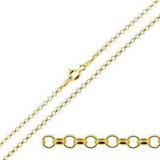 9ct Yellow Gold 1.8mm Light Belcher Chain