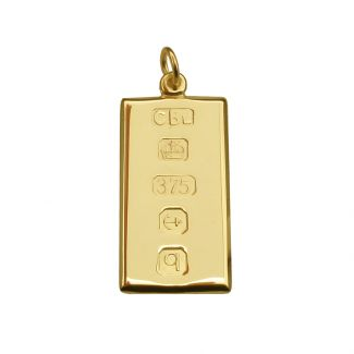 9ct Yellow Gold Custom Hallmarked Ingot With Optional Engraving