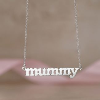 Sterling Silver Meghan Mummy Name Necklace