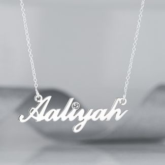 Carrie Style Personalised Name Necklace With Diamond