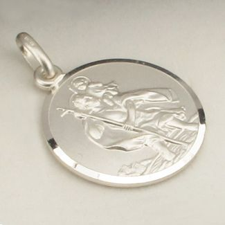 Sterling Silver 20mm St Christopher Pendant With Optional Engraving