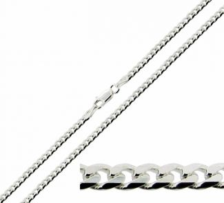 Sterling Silver 3.2mm Diamond Cut Curb Chain