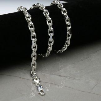 Sterling Silver 6mm Mens Diamond Cut Belcher Bracelet