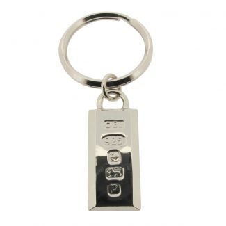 Sterling Silver Heavy Hallmarked Ingot Keyring With Optional Engraving