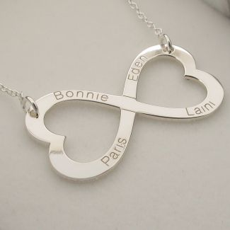 Sterling Silver Infinity Heart Necklace