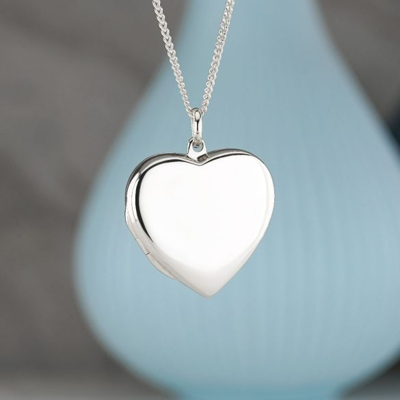 Sterling Silver Heart Locket With Optional Engraving