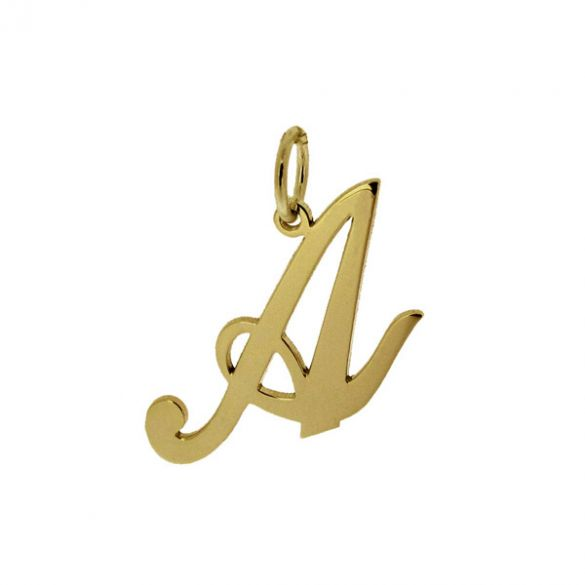9ct Yellow Gold Script Initial Pendant