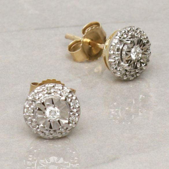 9ct Yellow Gold 0.13ct Diamond Stud Earrings