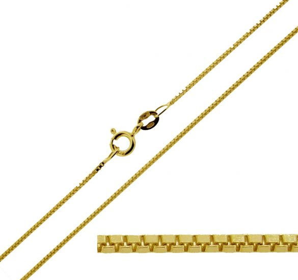 9ct Yellow Gold 0.7mm Box Chain