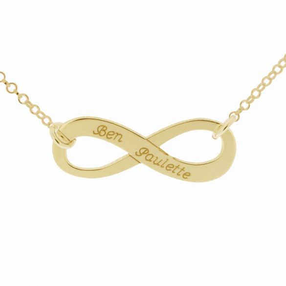 9ct Yellow Gold Plated Infinity Necklace