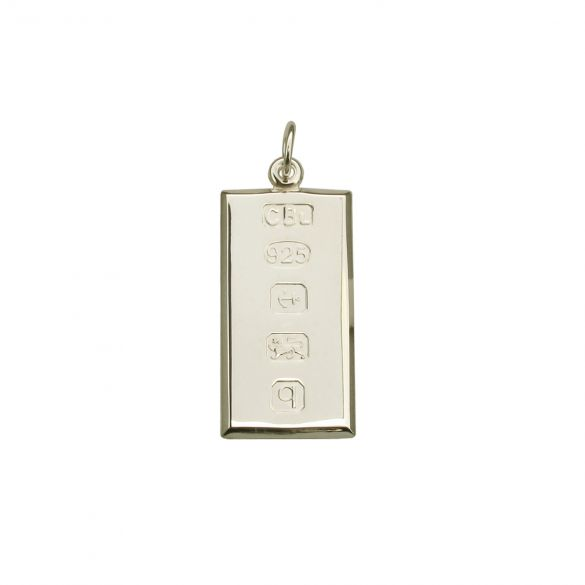 Sterling Silver Small Custom Hallmarked Ingot With Optional Engraving