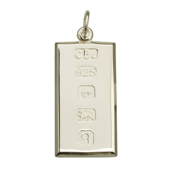 Sterling Silver Large Custom Hallmarked Ingot With Optional Engraving
