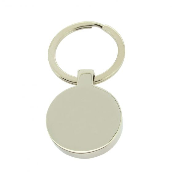 Stainless Steel Round Keyring With Optional Engraving