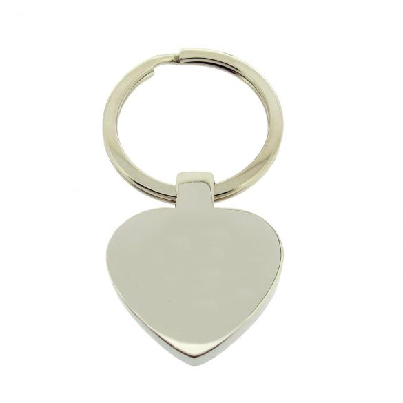 Mirror Polished Heart Keyring With Optional Engraving