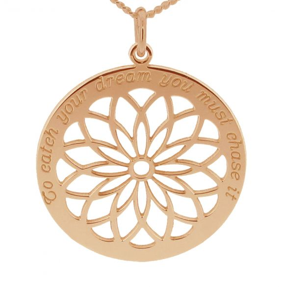 9ct Rose Gold Plated Dream Catcher Necklace