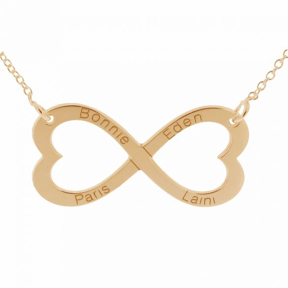 9ct Rose Gold Infinity Heart Necklace