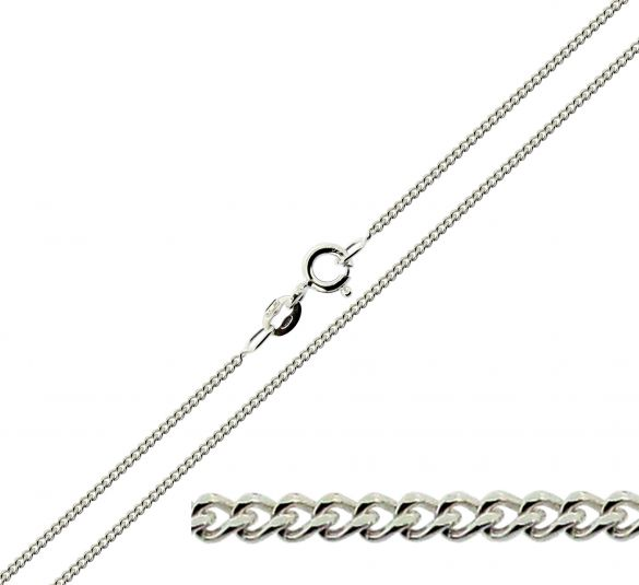 Sterling Silver 1.4mm Diamond Cut Curb Chain