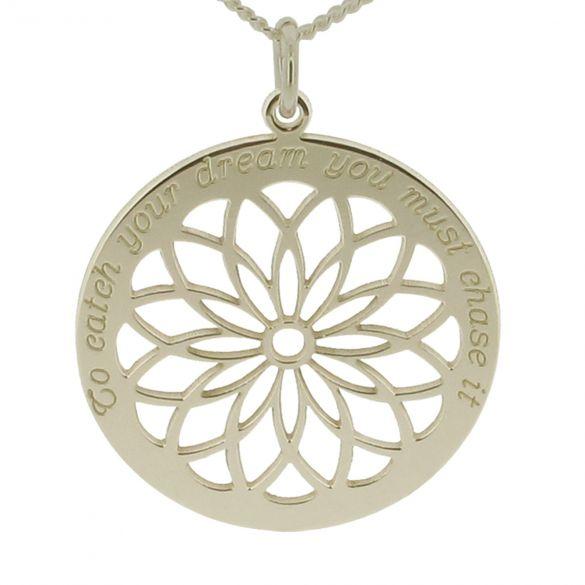 9ct White Gold Dream Catcher Necklace