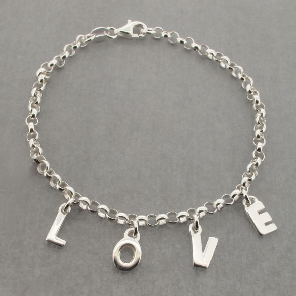 Sterling Silver Ladies LOVE Bracelet