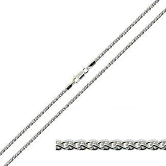 Sterling Silver 1.8mm Spiga Link Anklet
