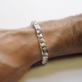 Sterling Silver Mens 1oz Chunky Curb Link Bracelet