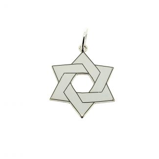 Sterling Silver Star Of David Jewish Pendant