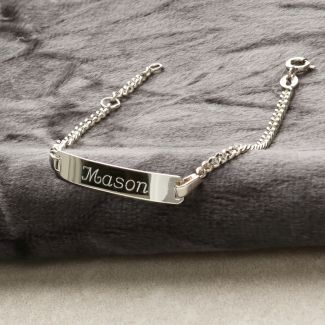 Silver ID Kids Bracelet With Optional Engraving