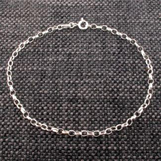 Sterling Silver Belcher Link Anklet