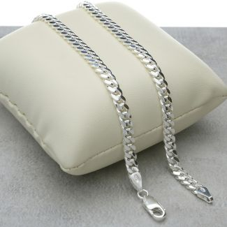 Sterling Silver 4.5mm Dome Curb / Cuban Link Gents Chain