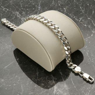 Sterling Silver 9mm Cuban Gents Bracelet